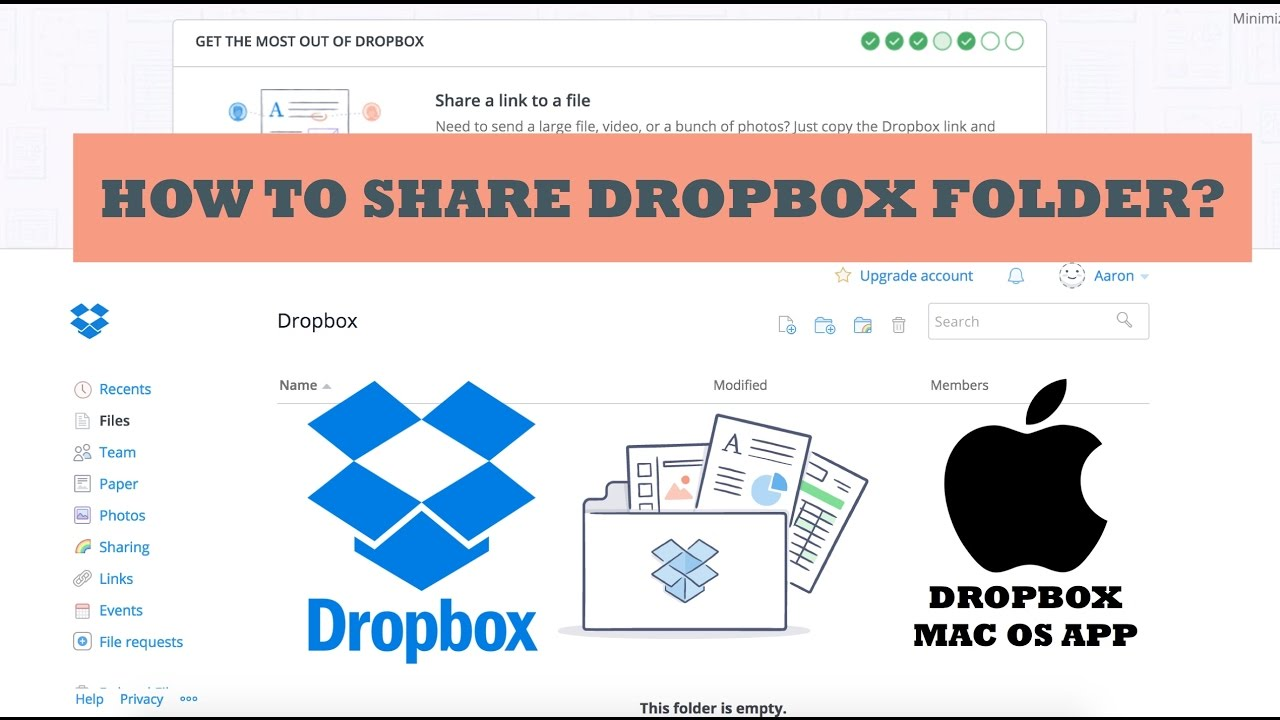 Share Dropbox folder and file.  sc 1 st  YouTube & Share Dropbox folder and file. - YouTube Aboutintivar.Com