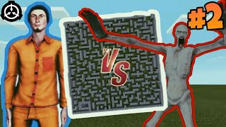 SCP Monsters vs. D-Class Maze Chase in Minecraft #2