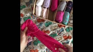 Как сложить детские колготки и носки