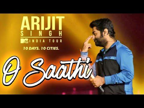Arijit Singh Live singing O saathi song at Gurugram 2018 | Mtv india tour
