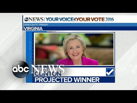 Super Tuesday: Democrat Projections for Georgia, Virginia, Vermont