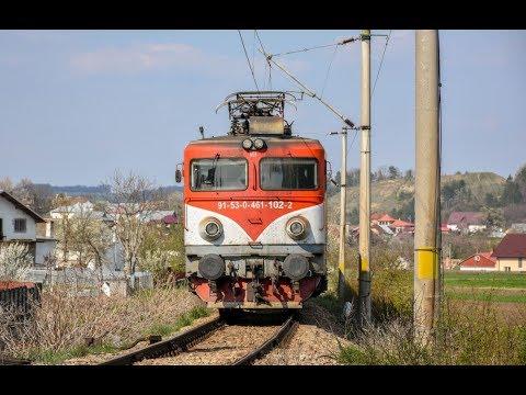 Tren R5703 Suceava - Ilva Mica cu EC102 se apropie de Suceava Vest - 20.04.2019
