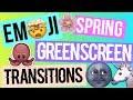 SPRINGBREAK 2018 EMOJI GREENSCREEN PACK! TRANSITIONS AND ANIMATIONS! (HD)