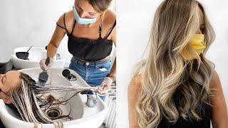 BOWLAYAGE Hair Color Tutorial | Blonding Transformation with Balayage at the Bowl | Daniella Benita