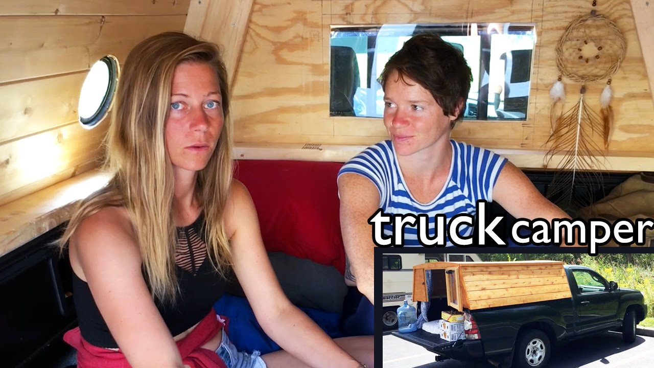 Girl Living in Truck Camper || custom cap conversion by Kelsea Anderson