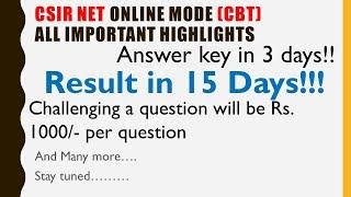 CSIR NET DECEMBER 2019 CBT mode details   all important highlights of CBT CSIR UGC NET Dec 2019 exam