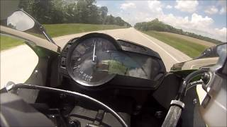 2013 Kawasaki ZX6R 636 Top Speed/Acceleration (MPH) M4 GP Slip on Exhaust *GoPro HD*