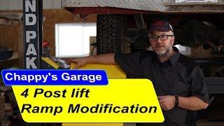 Bendpak 4 post lift ramp modification