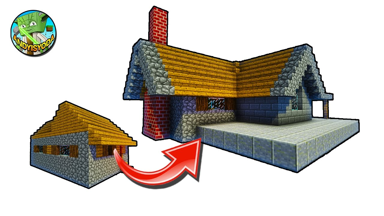 How to Transform a Minecraft Village House (the L shape one)