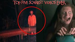 REACTING TO THE TOP 5 SCARIEST VIDEOS EVER MADE | WE DARE YOU TO WATCH UNTIL THE END FT MOE SARGI