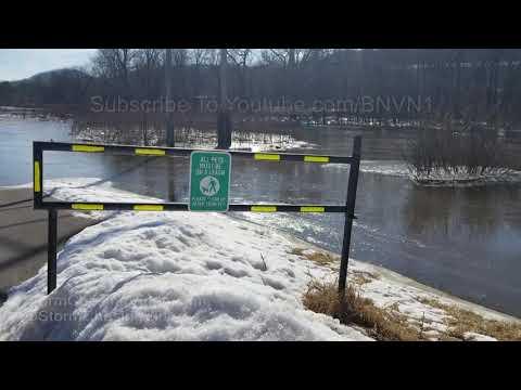 La Crosse Wisconsin Mississippi River Flooding - 3/17/2019