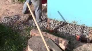 Бетон. ч8. Правильная укладка. Подсыпка щебня.(Подготовка к заливке бетона. Как правильно заливать бетон самому. Утрамбовка уплотнение грунта перед бетон..., 2015-03-26T14:47:06.000Z)