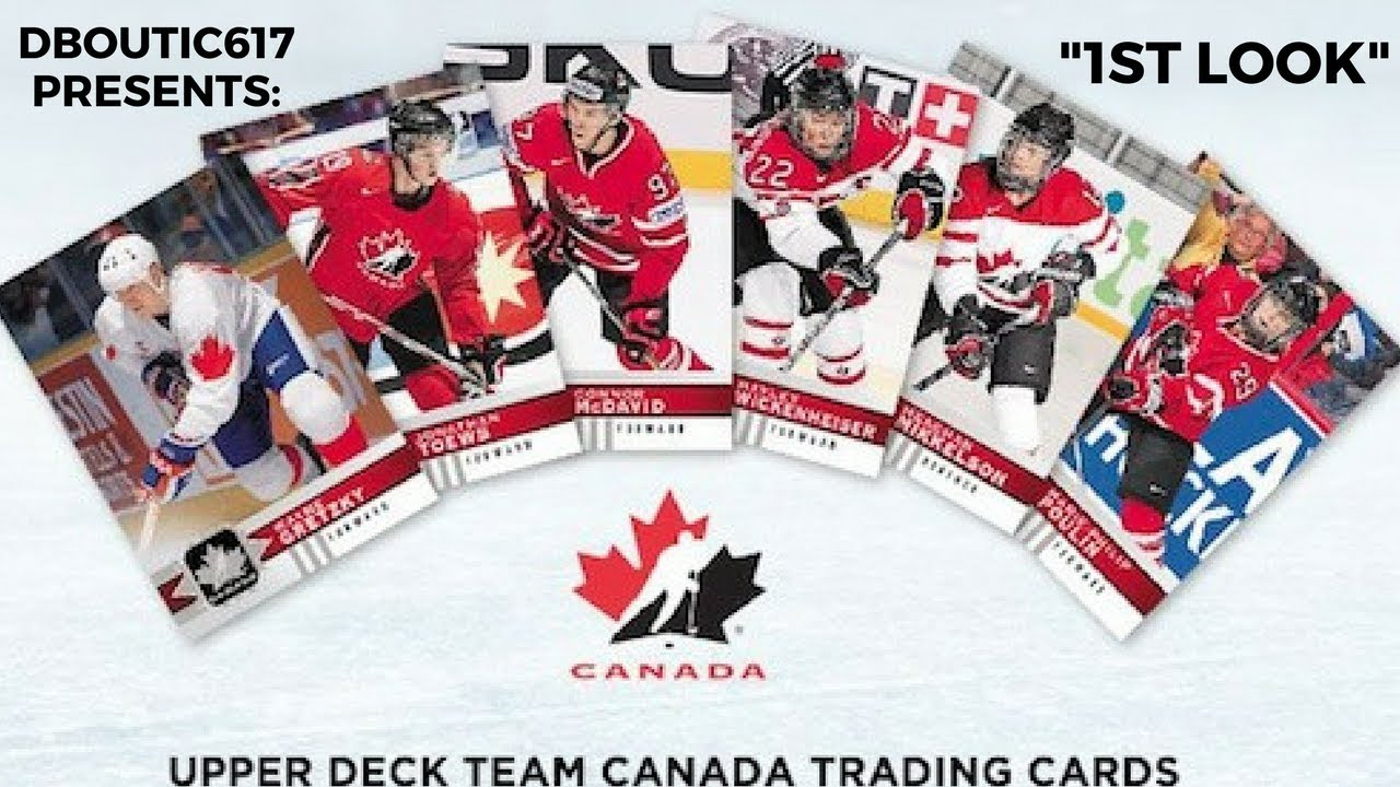 1st Look 17 18 Ud Team Canada Hockey Cards Canadian Tire