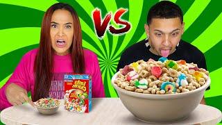BIG VS SMALL FOOD CHALLENGE!