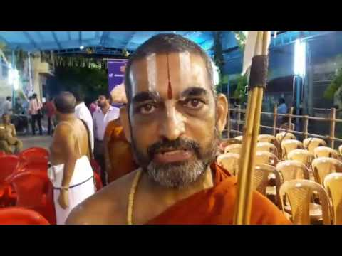 HH Swamiji inviting everyone to Srirangam for Sri Vaishnava Sangoshti !
