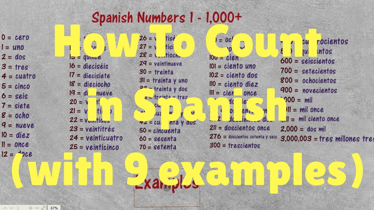 all spanish numbers 1 1000
