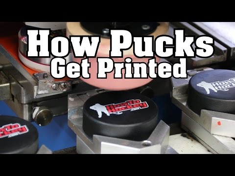 How Hockey Pucks Are Printed
