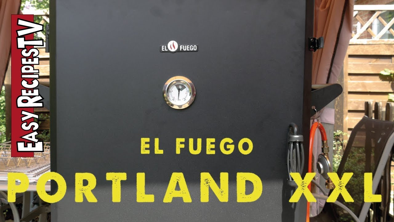 Gas Oder Holzkohlegrill Xxl : El fuego portland xxl first look youtube