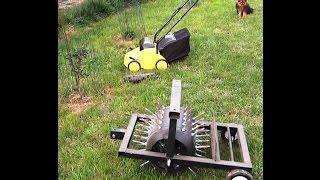 видео Аэратор для газона сделать самим