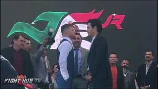 Canelo Alvarez vs. Julio Cesar Chavez Jr FULL Face Off Video - Mexico City
