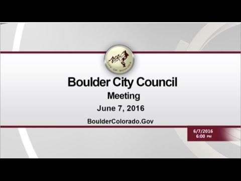 Boulder City Council 06-07-16