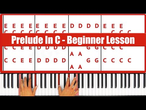 Best Beginner Piano Lesson Ever: Prelude In C Bach  - PGN Piano