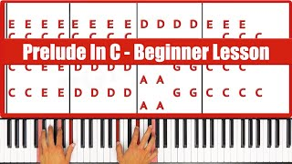 ♫ Best Beginner Lesson Ever: Prelude In C Bach  - PGN Piano