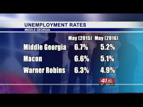 Lowered unemployment rates in Middle Georgia
