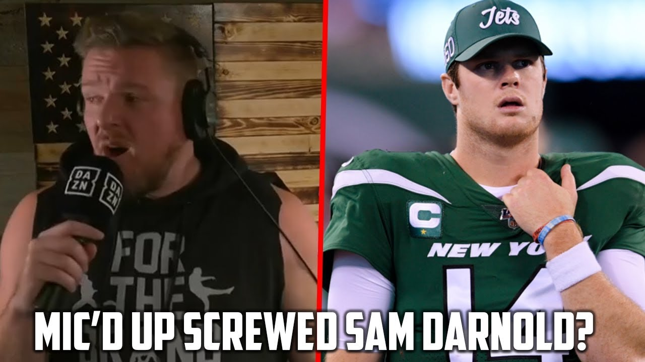 Pat Mcafee Reacts To Sam Darnold Seeing Ghosts