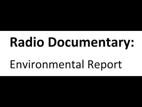 Radio documentary on some of the environmental laws in the Philippines
