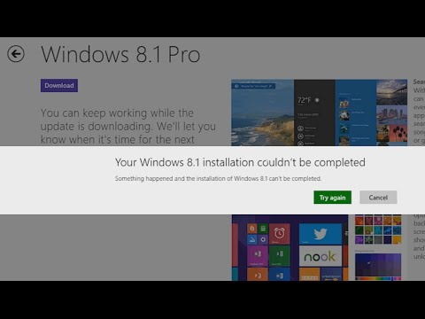 Upgrade to Windows 8.1 Fails