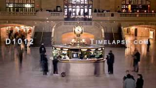 Time-lapse Grand Central Station Clock Stairway New York
