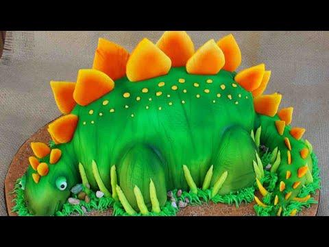 dcoration de gteau dinosaures gateau en fondant video en franais