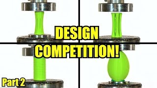 Which is The Strongest 3D printed Model? Viewer's Designs Vs. Hydraulic Press