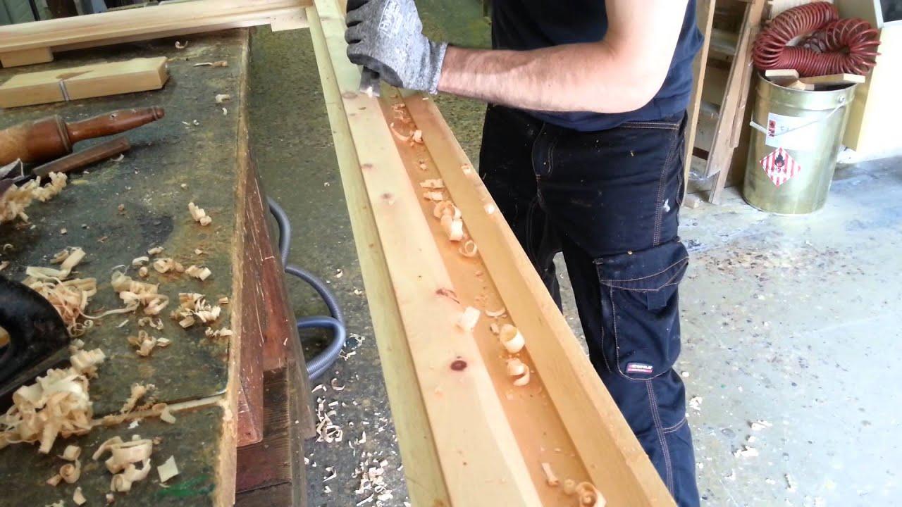 hacer marco de madera al estilo antiguo - YouTube