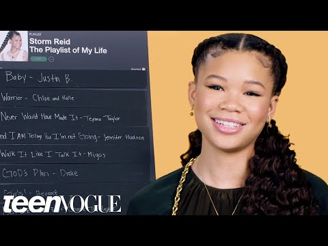 Storm Reid Creates The Playlist of Her Life  Teen Vogue
