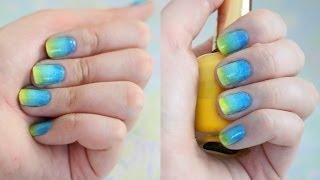 Летний градиентный маникюр в домашних условиях /Gradient Nails