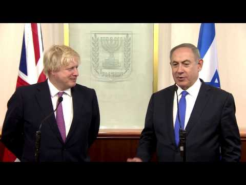 PM Netanyahu meets with British Secretary of State for Foreign Affairs Johnson