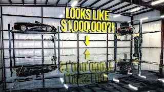 How To Turn Your Dirty Old Garage Into A MILLION DOLLAR SUPERCAR SHOWROOM (DREAM SHOP!)