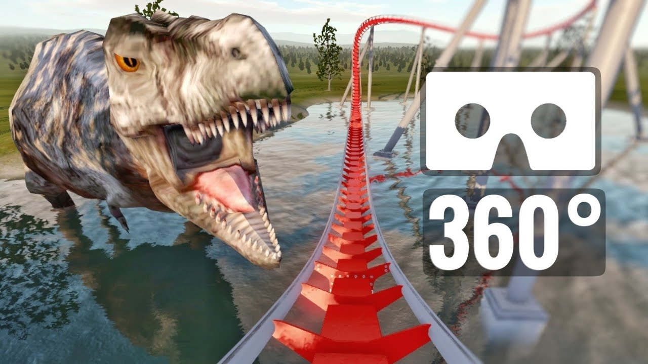 Jurassic Park Dinosaurs T-Rex 360 video Roller Coaster Lost World PSVR