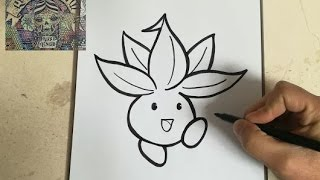 COMO DIBUJAR A ODDISH - POKEMON / how to draw oddish - pokemon