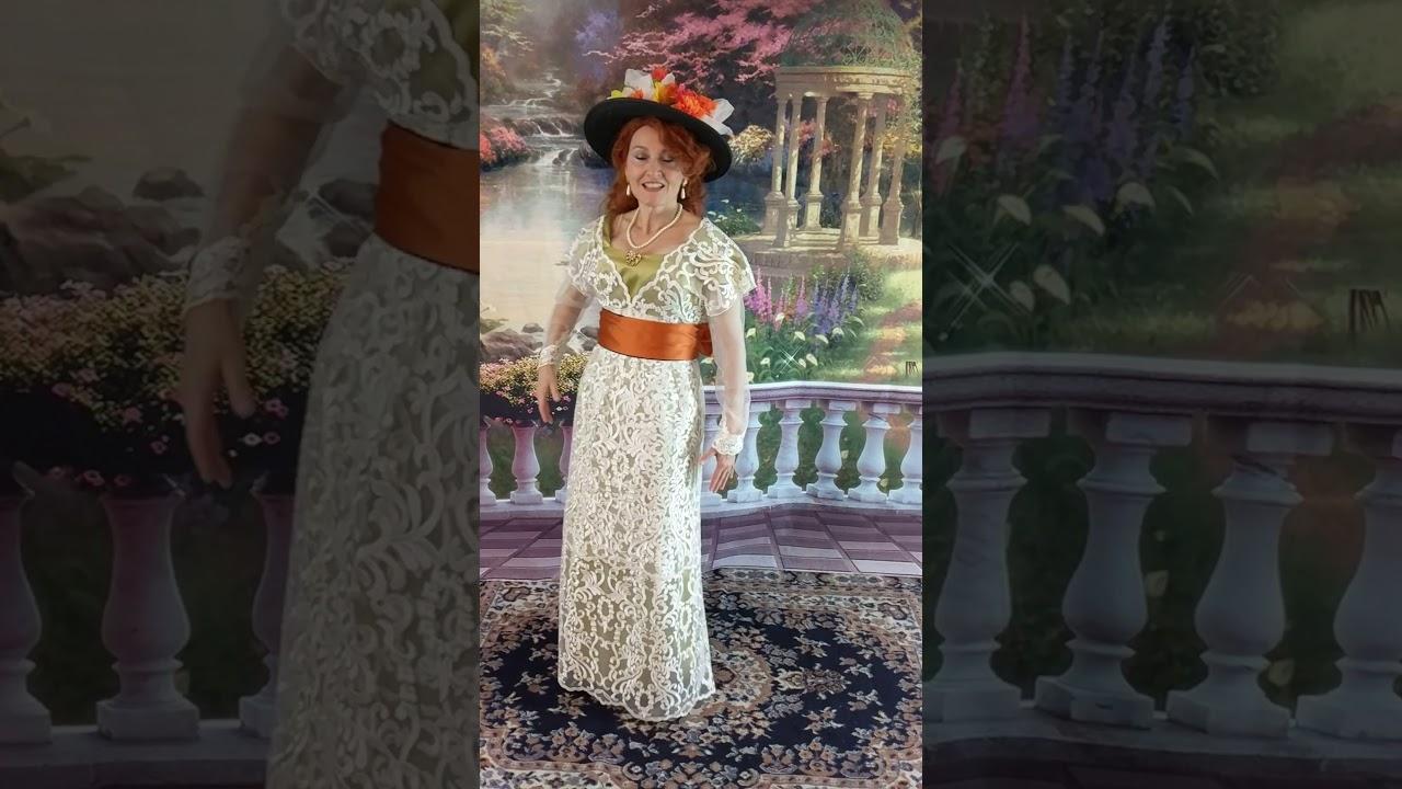 Titanic inspired Edwardian Tea gown - YouTube