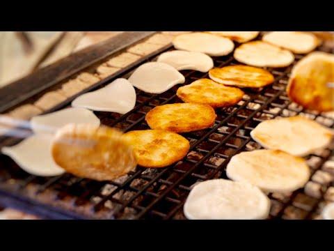 japanese-rice-cracker-,senbei-making-asmr