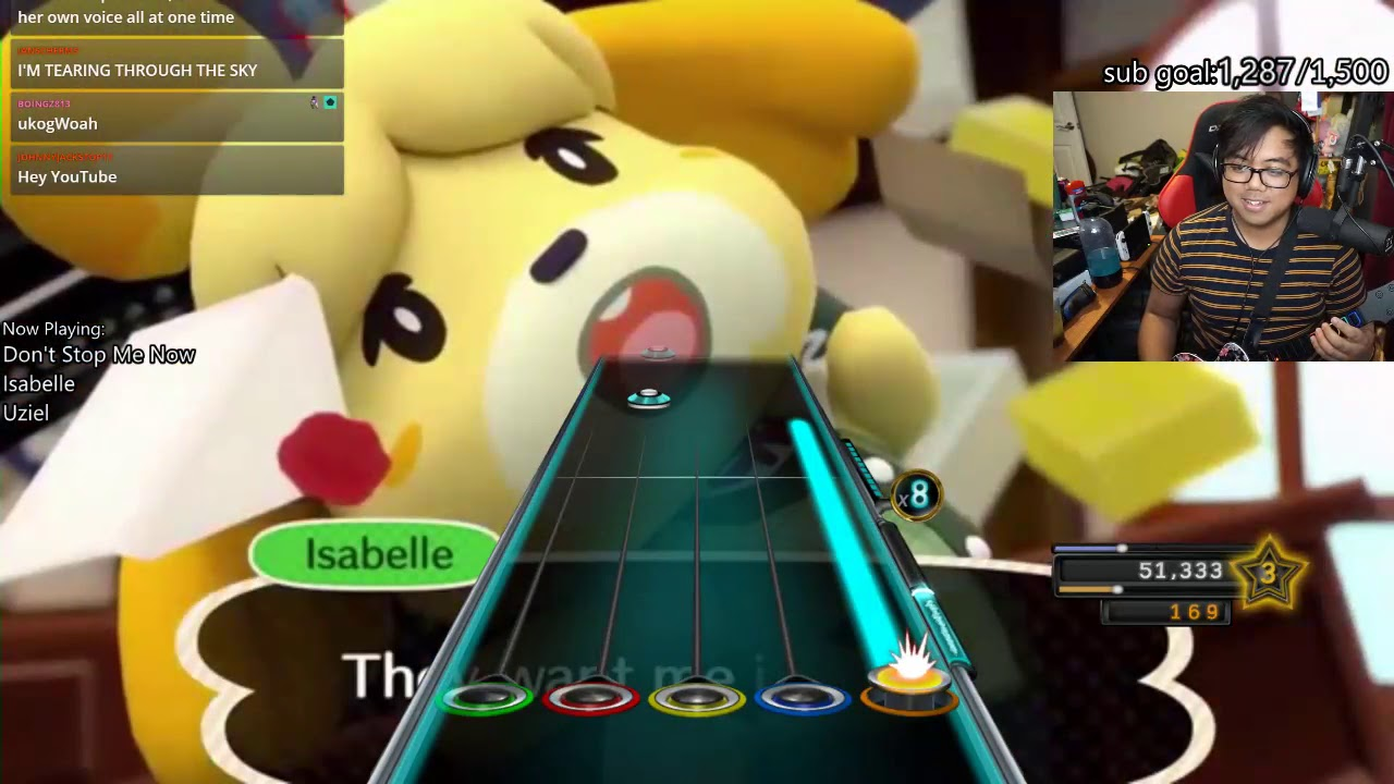 Don't Stop Me Now but it's sung by Isabelle