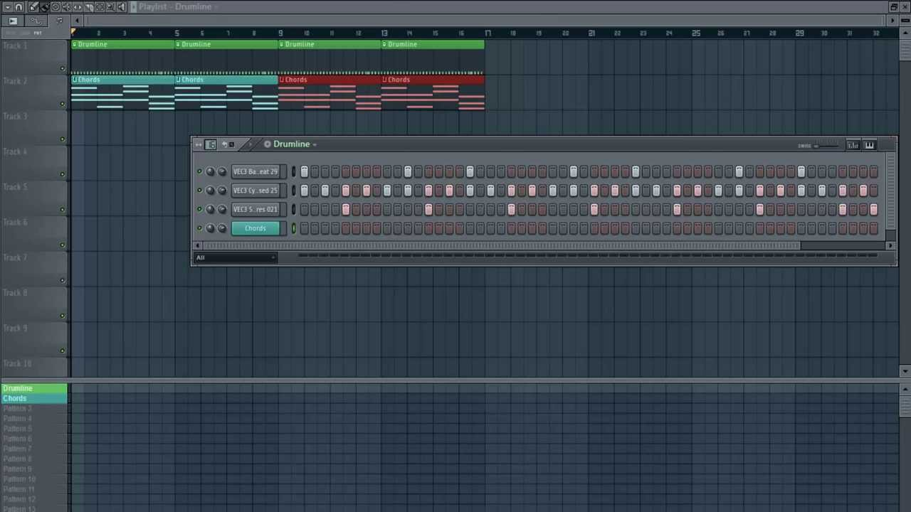 FL Studio Tutorial #2 - DnB Beat en Chords! - YouTube