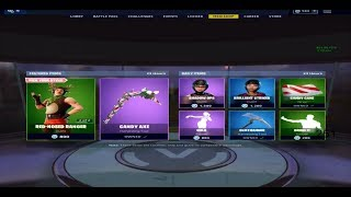 FORTNITE ITEAM SHOP MORE CHRISTMAS SKINS RED NOSIE RAIDIER!! AND CANDY AXE 19 DEC!!
