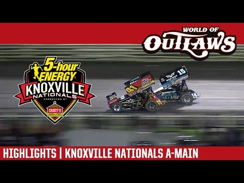 World of Outlaws Craftsman Sprint Cars Knoxville Nationals August 13th, 2016 | HIGHLIGHTS