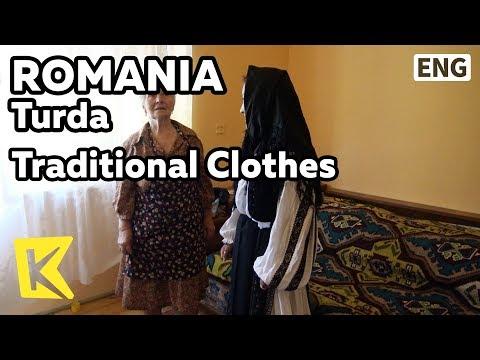 【K】Romania Travel-Turda[루마니아 여행-투르다]전통의상/Traditional Clothes/Veil/Black/Dress