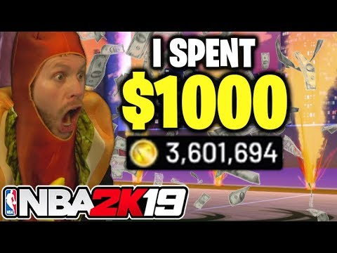 I spent $1000 on NBA 2K19 and got this..