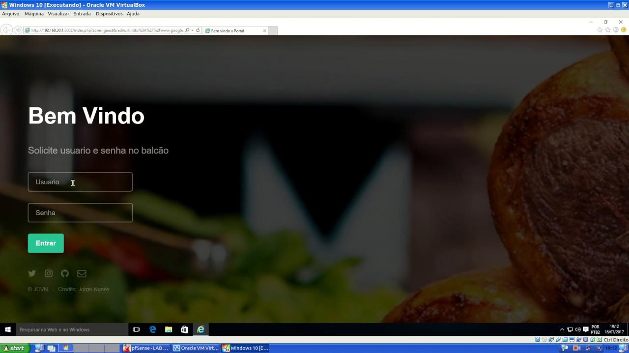 pfSense Captive Portal Pagina Personalizada Responsiva by JCVN Soluções em  TI